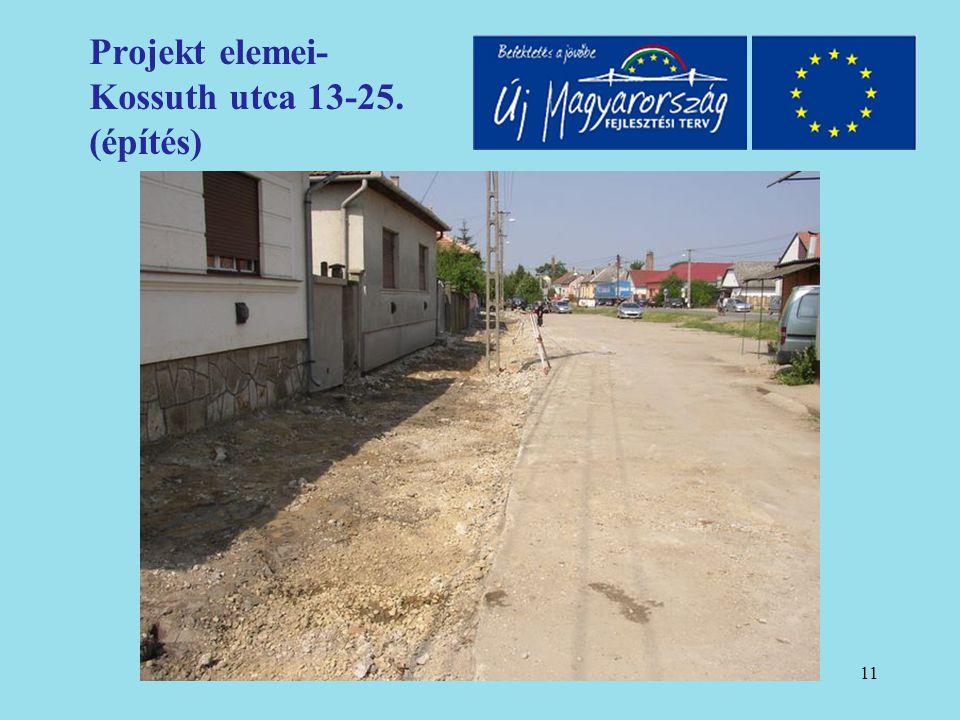 12 Projekt elemei- Kossuth utca 13-25. (építés)
