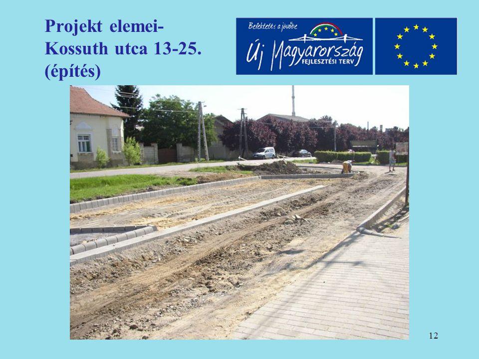 13 Projekt elemei- Kossuth utca 13-25. (átadást követően)