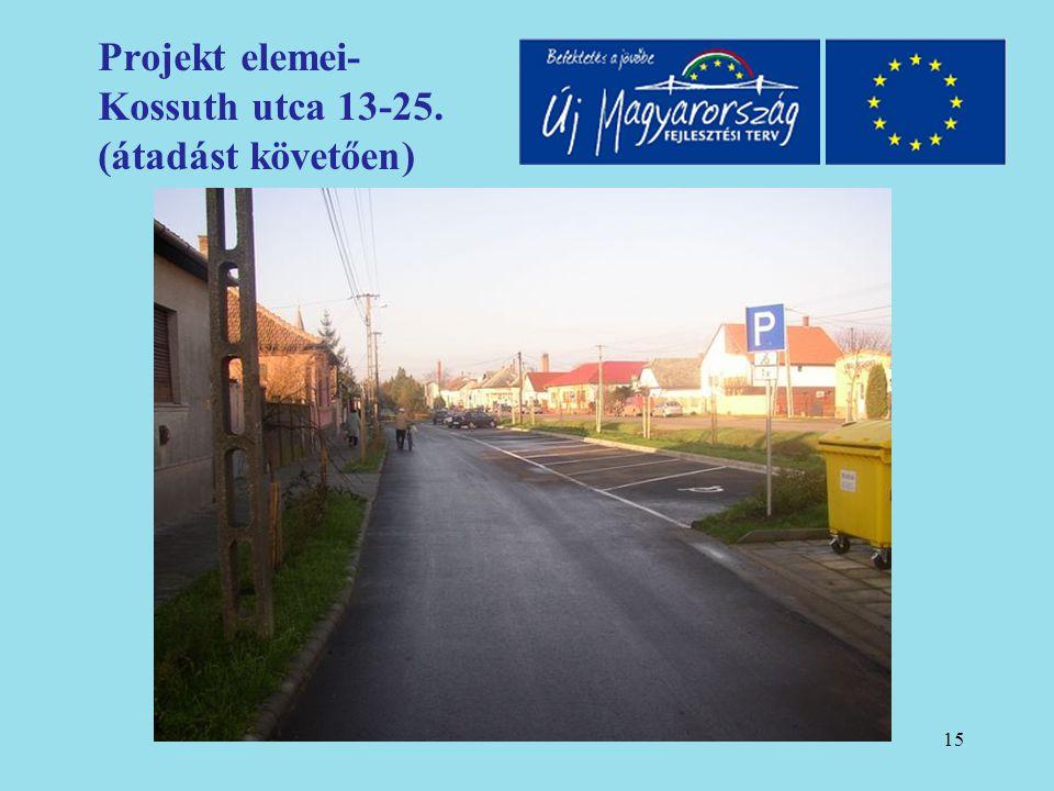 16 Projekt elemei- Kossuth utca 13-25. (átadást követően)