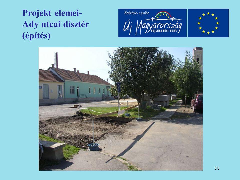19 Projekt elemei- Ady utcai dísztér (építés)