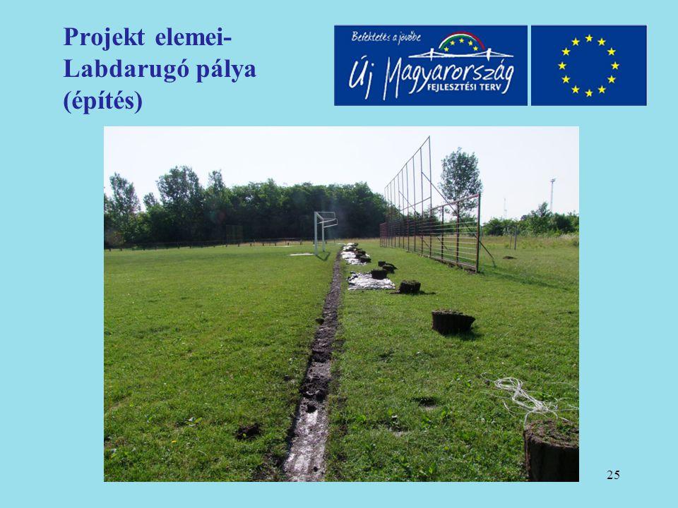 26 Projekt elemei- Labdarugó pálya (építés)