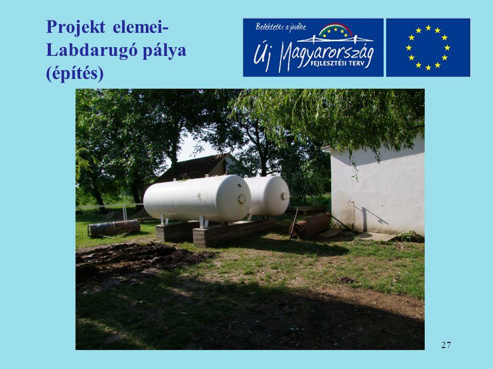 28 Projekt elemei- Labdarugó pálya (átadást követően)