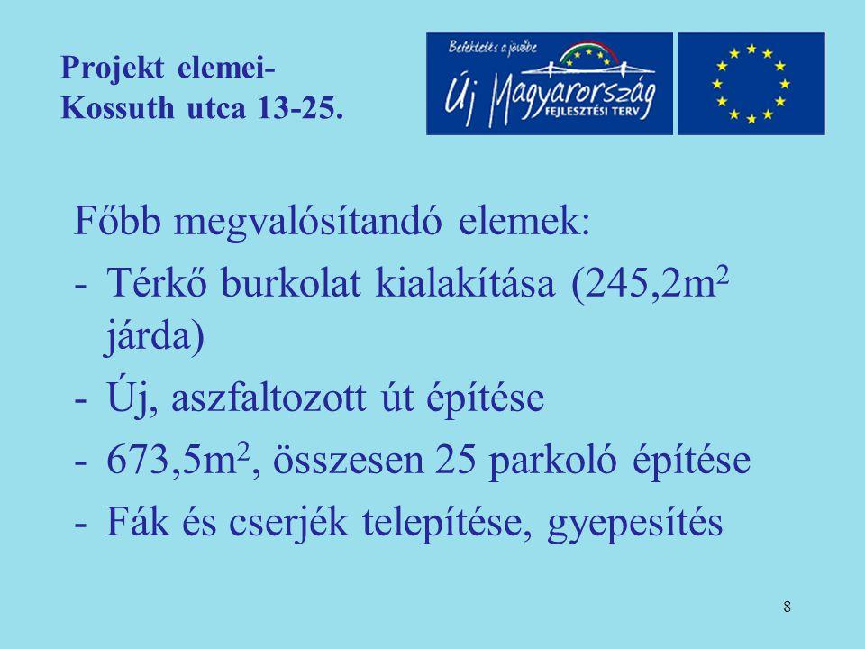 9 Projekt elemei- Kossuth utca 13-25. (építés)