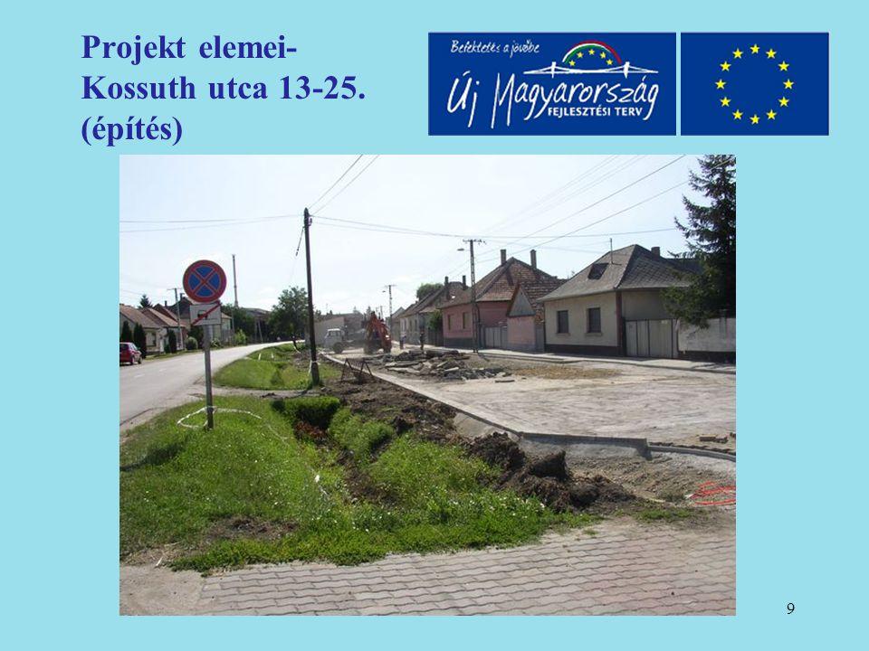 10 Projekt elemei- Kossuth utca 13-25. (építés)
