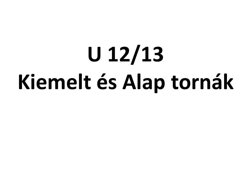 U 12/13 Kiemelt és Alap tornák