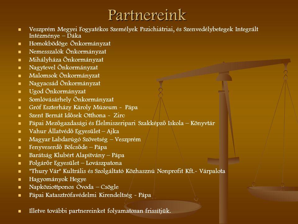 Partnereink Veszprém Megyei Fogyatékos Személyek Pszichiátriai, és Szenvedélybetegek Integrált Intézménye – Dáka Homokbödöge Önkormányzat Nemesszalók