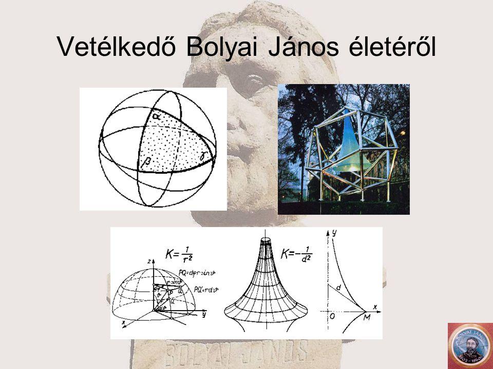 Vetélkedő Bolyai János életéről