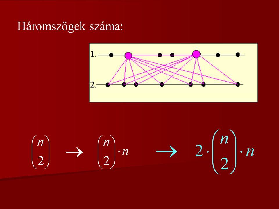 5. feladat Adott két párhuzamos egyenes; mindkettőn kijelöltünk n db (de legalább 2) pontot.