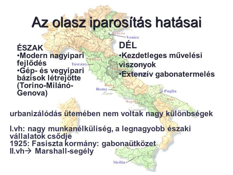 Regionalizmus és decentralizáció Kialakulása körül vita alakult ki: (jobboldali hatalom) 1.Egységhez szilárd központi hatalom kell 2.Garantálni kell a területek autonómiáját Az ellenzéki kommunista párt akarta a támogatást megszerezni a régiók felállításának szorgalmazásával.