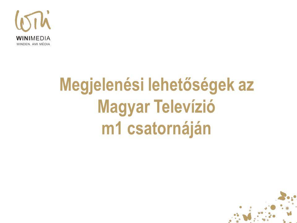 Megjelenési lehetőségek az Magyar Televízió m1 csatornáján
