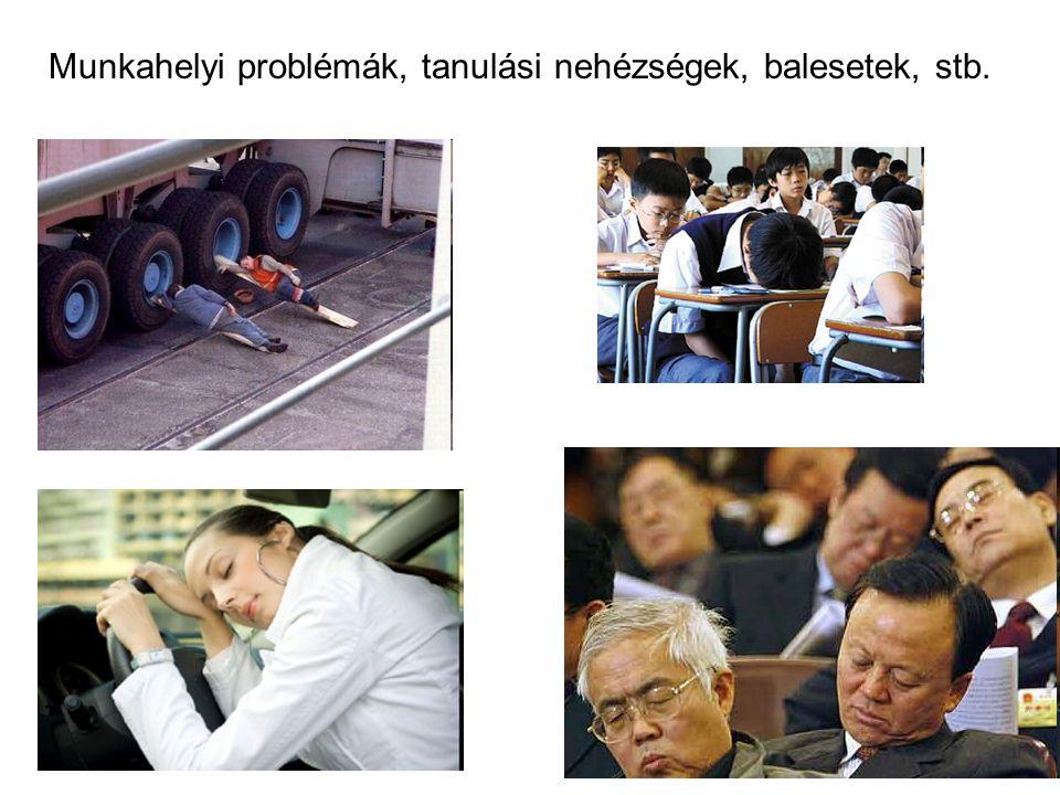 Munkahelyi problémák, tanulási nehézségek, balesetek, stb.