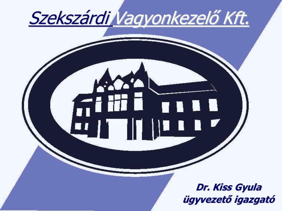 Szekszárdi Vagyonkezelő Kft. Dr. Kiss Gyula ügyvezető igazgató