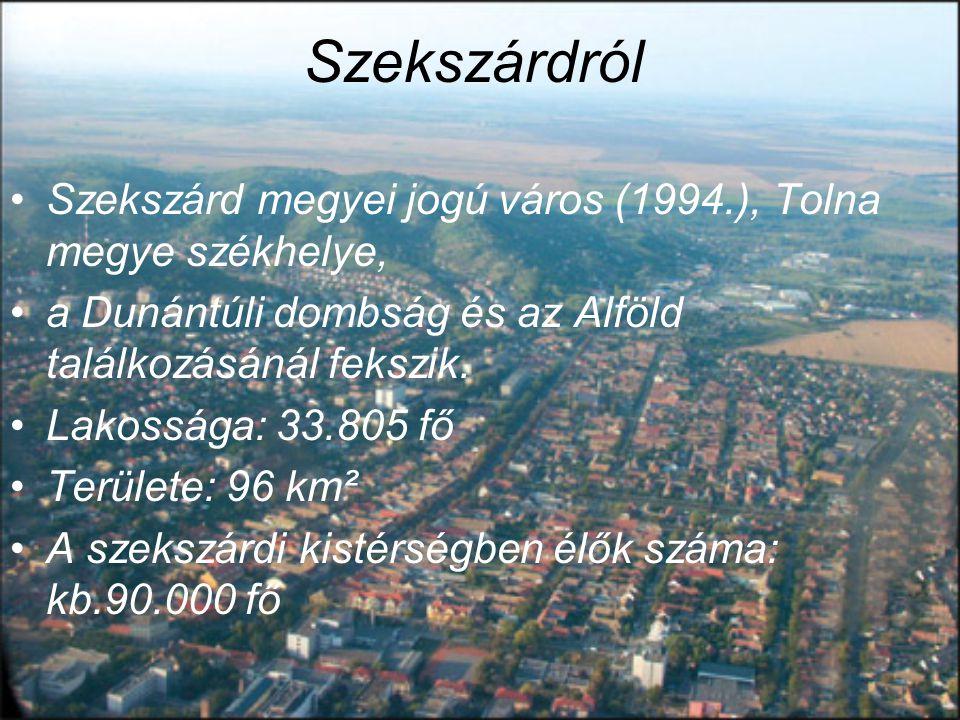 Szekszárdról Szekszárd megyei jogú város (1994.), Tolna megye székhelye, a Dunántúli dombság és az Alföld találkozásánál fekszik.