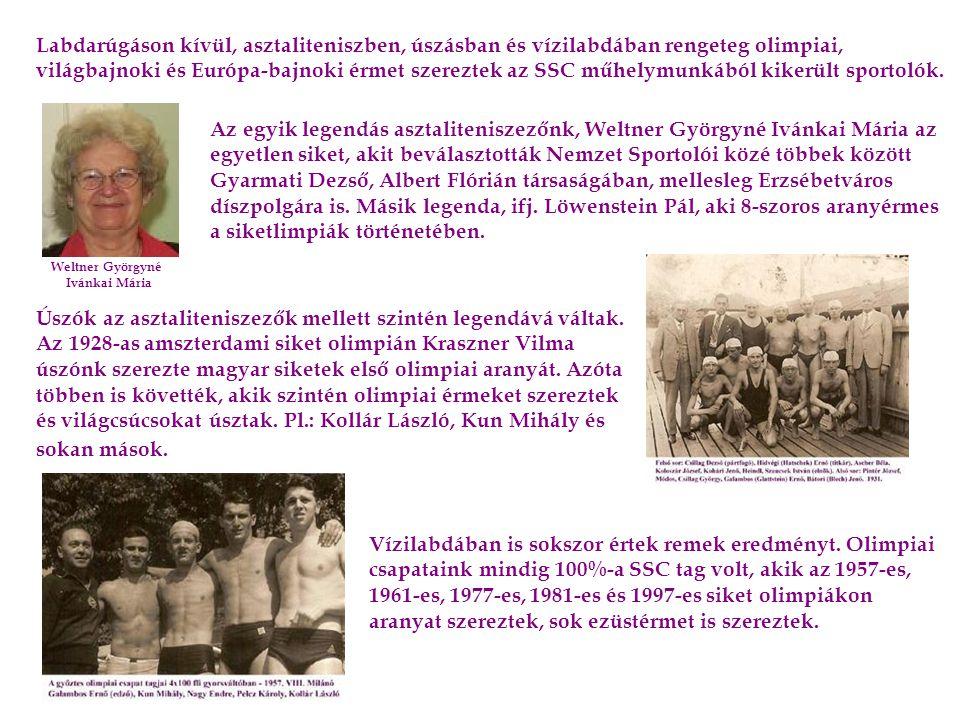 Legendás sportolóink mellett legendás vezetők is voltak, akik nagyon sokat tettek azért, hogy a budapesti siket sportolók számára fennmaradjon az egyesület, mely még a háborúk utáni nehéz időket is túlélte.