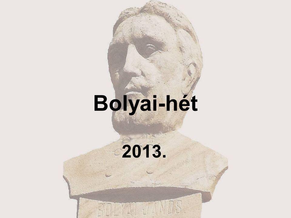 Bolyai-hét 2013.
