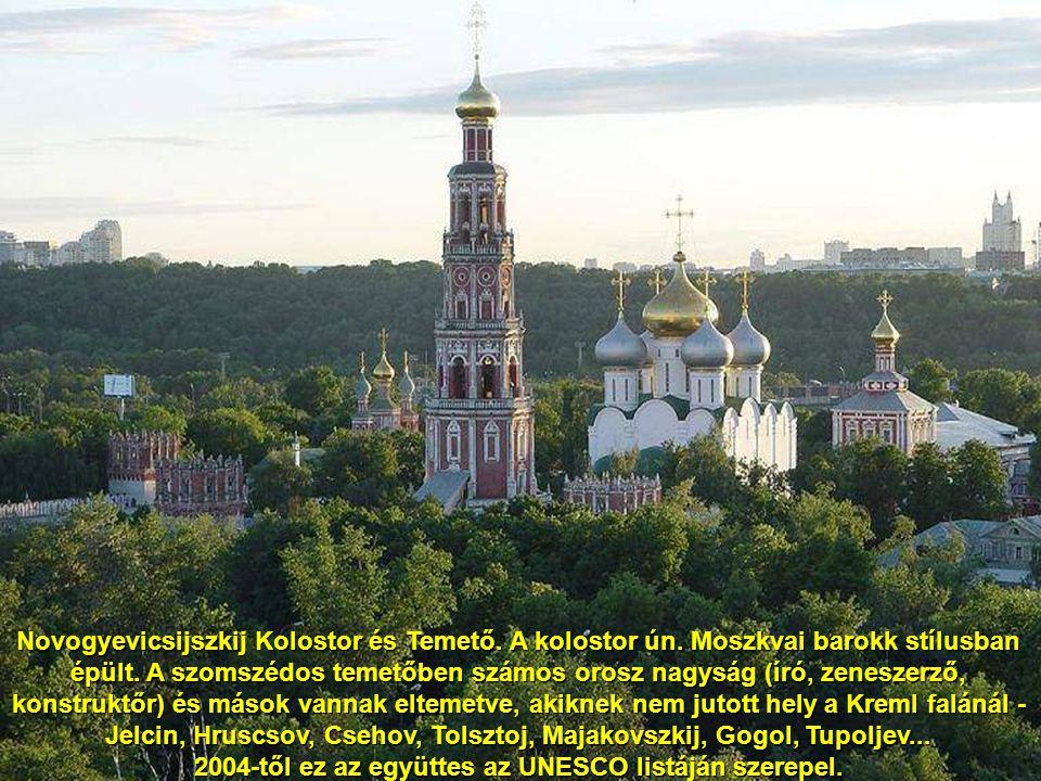 Novogyevicsijszkij Kolostor (Novogyevicsijszkij monisztir) a legnagyobb és legszebb moszkvai kolostor. 1524-ben alapították