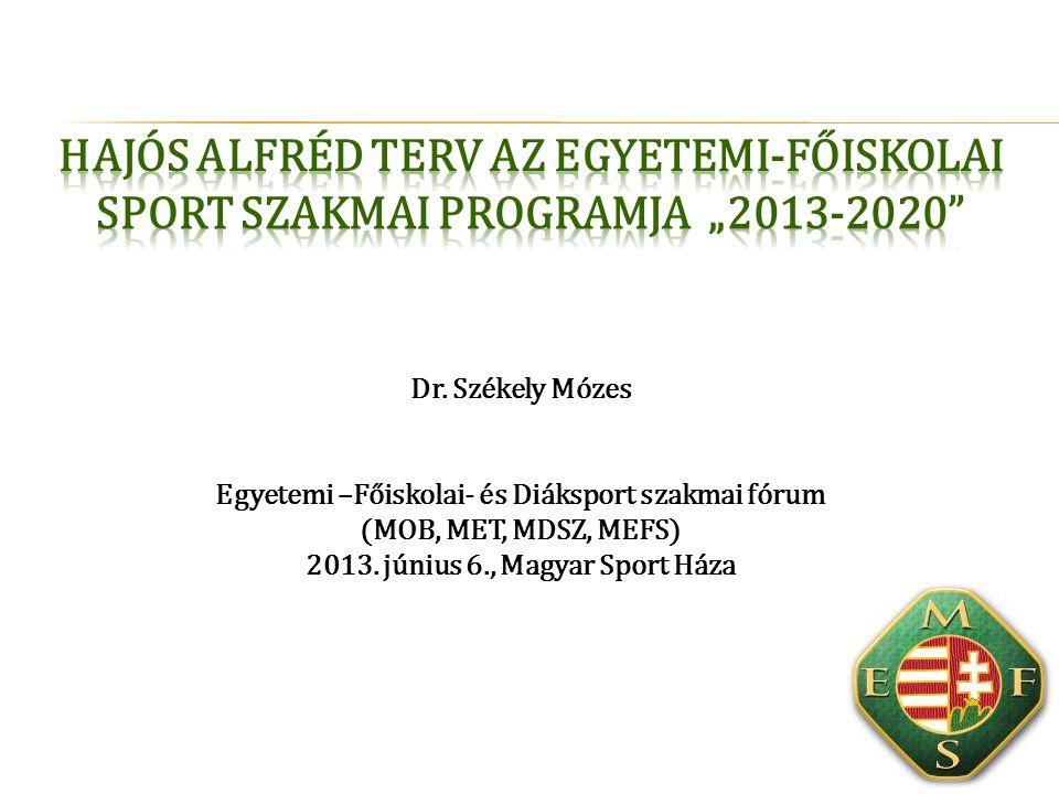 Dr.Székely Mózes Egyetemi –Főiskolai- és Diáksport szakmai fórum (MOB, MET, MDSZ, MEFS) 2013.