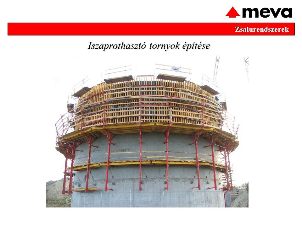 Zsalurendszerek Zsalurendszerek Iszaprothasztó tornyok építése