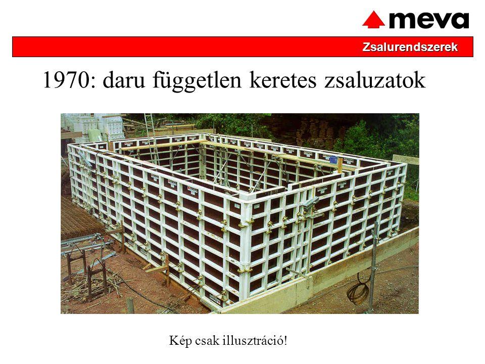 1970: daru független keretes zsaluzatok Zsalurendszerek Kép csak illusztráció!