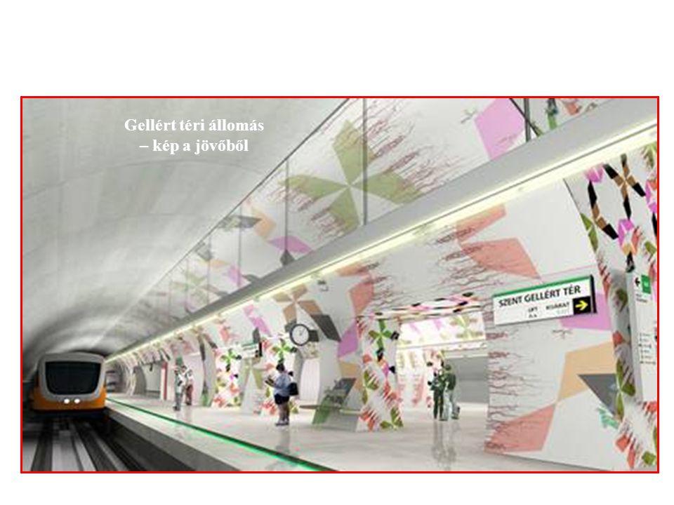 Gellért téri állomás – kép a jövőből