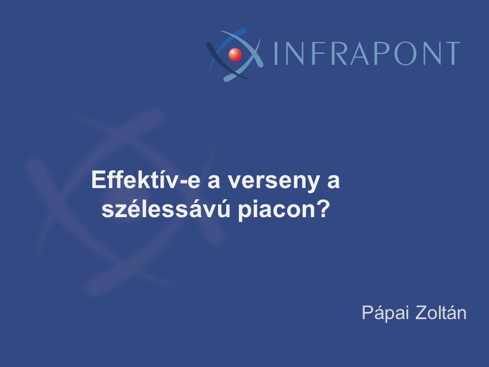 Effektív-e a verseny a szélessávú piacon? Pápai Zoltán