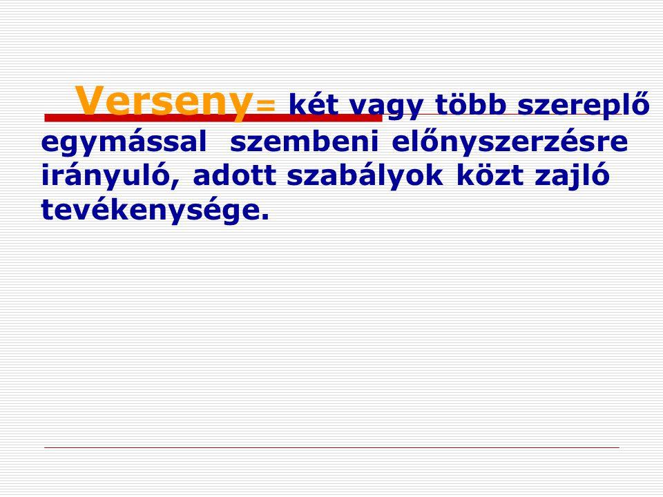 VERSENY TIPUSOK - a piacon jelenlévő kínálati szereplők száma szerint: 2.