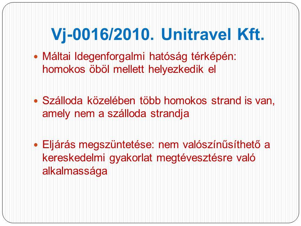 Vj-0016/2010. Unitravel Kft.