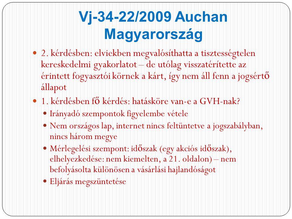 Vj-34-22/2009 Auchan Magyarország 2.