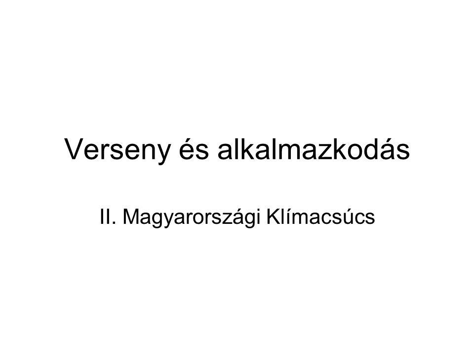 Verseny és alkalmazkodás II. Magyarországi Klímacsúcs