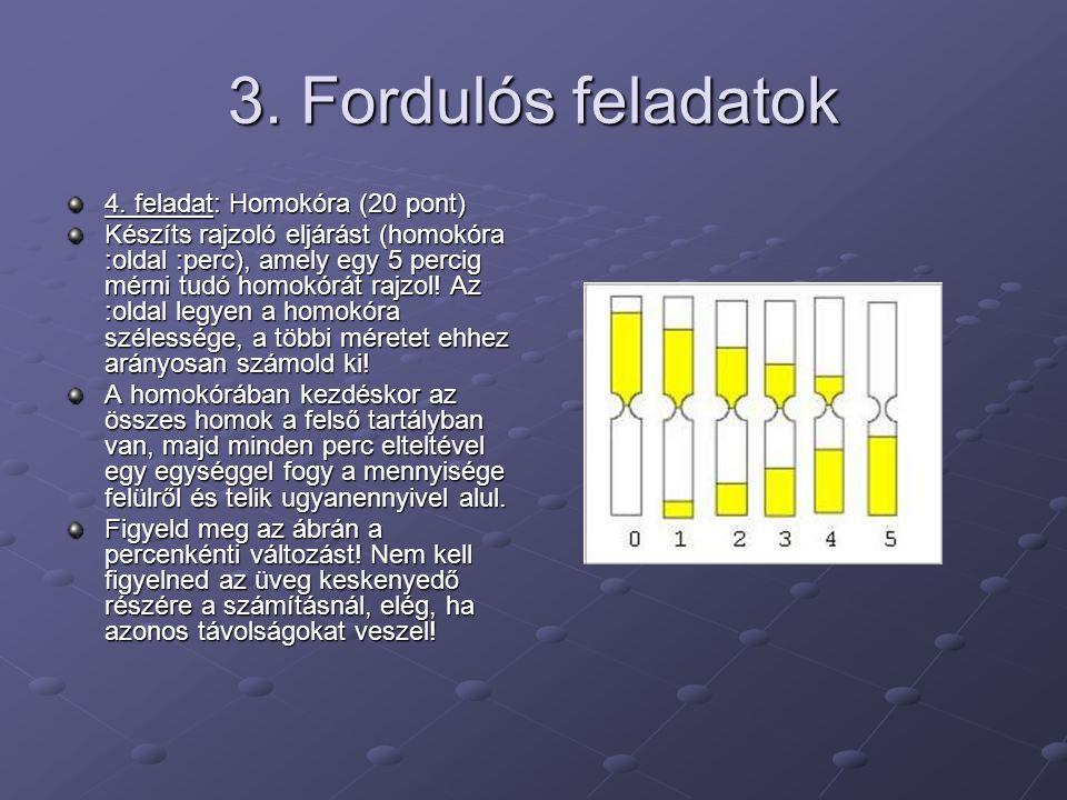 3.Fordulós feladatok 4.