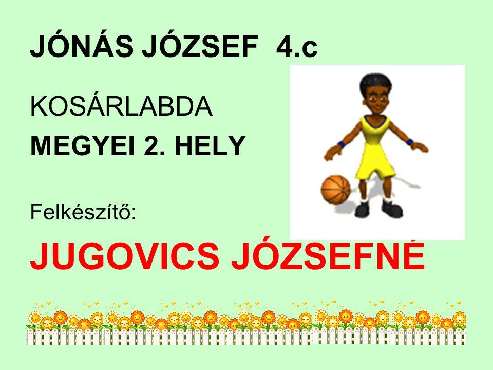 JÓNÁS JÓZSEF4.c KOSÁRLABDA MEGYEI 2. HELY Felkészítő: JUGOVICS JÓZSEFNÉ