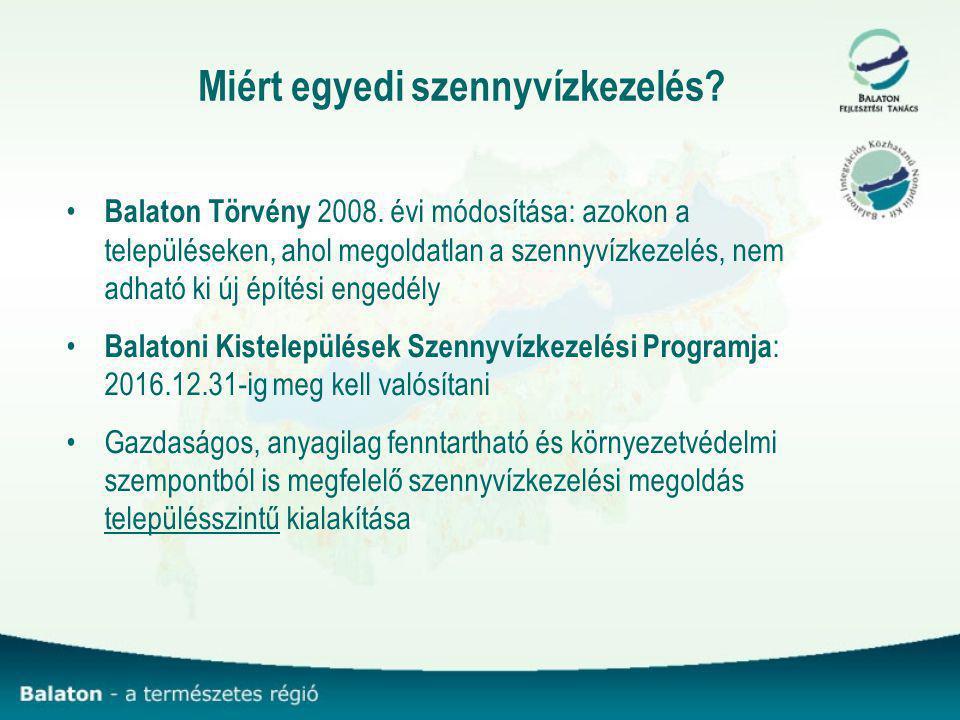 Miért egyedi szennyvízkezelés.Balaton Törvény 2008.