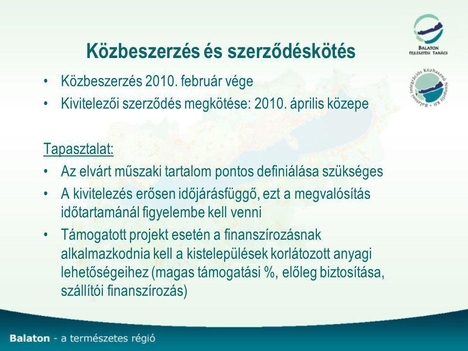 Közbeszerzés és szerződéskötés Közbeszerzés 2010.