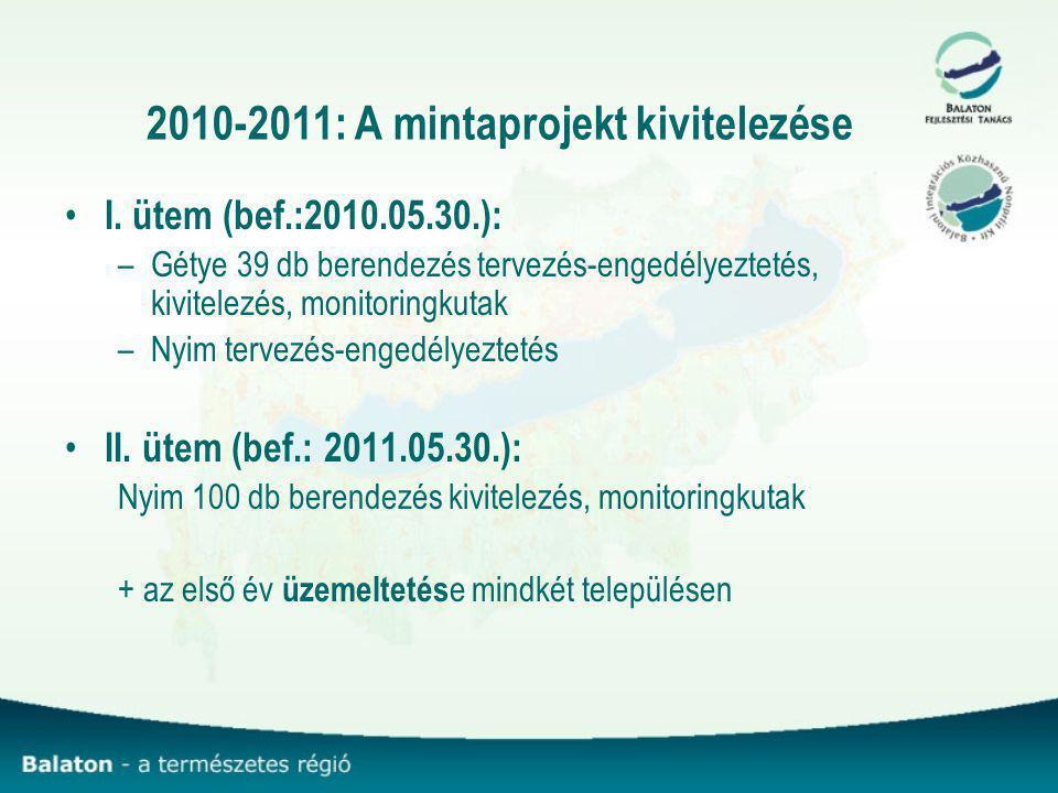 2010-2011: A mintaprojekt kivitelezése I.