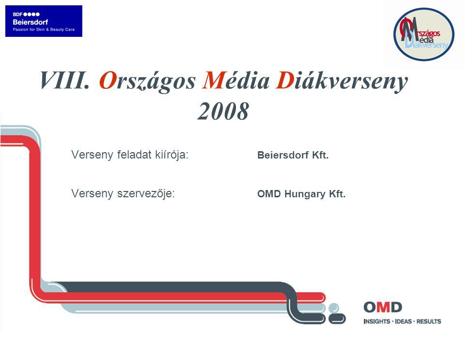 Verseny feladat kiírója: Beiersdorf Kft. Verseny szervezője: OMD Hungary Kft.