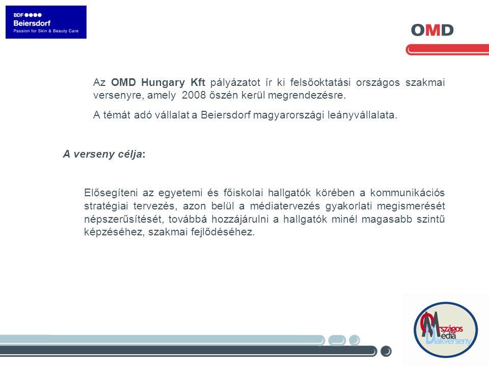 Az OMD Hungary Kft pályázatot ír ki felsőoktatási országos szakmai versenyre, amely 2008 őszén kerül megrendezésre.