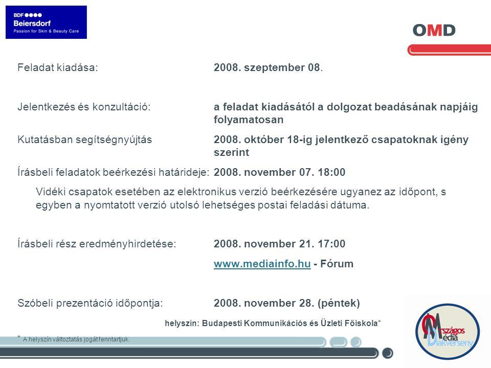Feladat kiadása: 2008. szeptember 08.