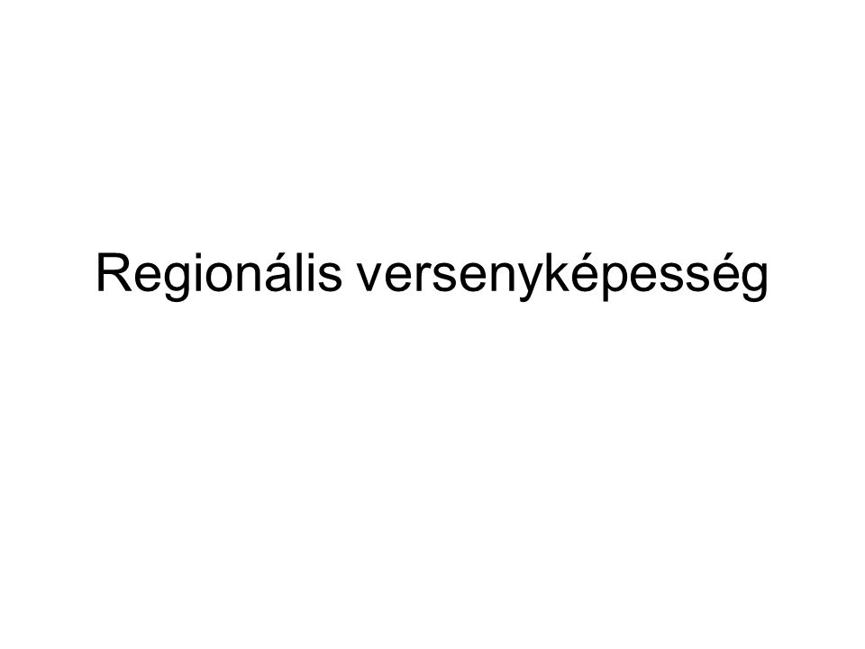Regionális versenyképesség