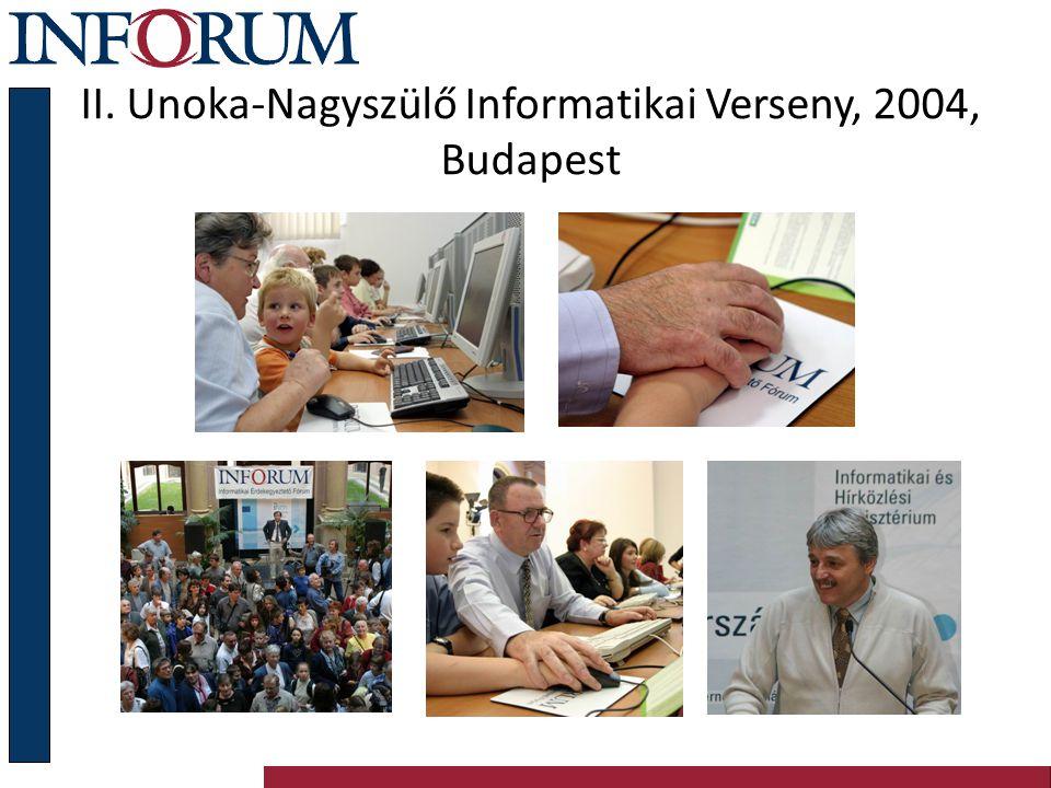 III. Unoka-Nagyszülő Informatikai Verseny, 2005 Budapest