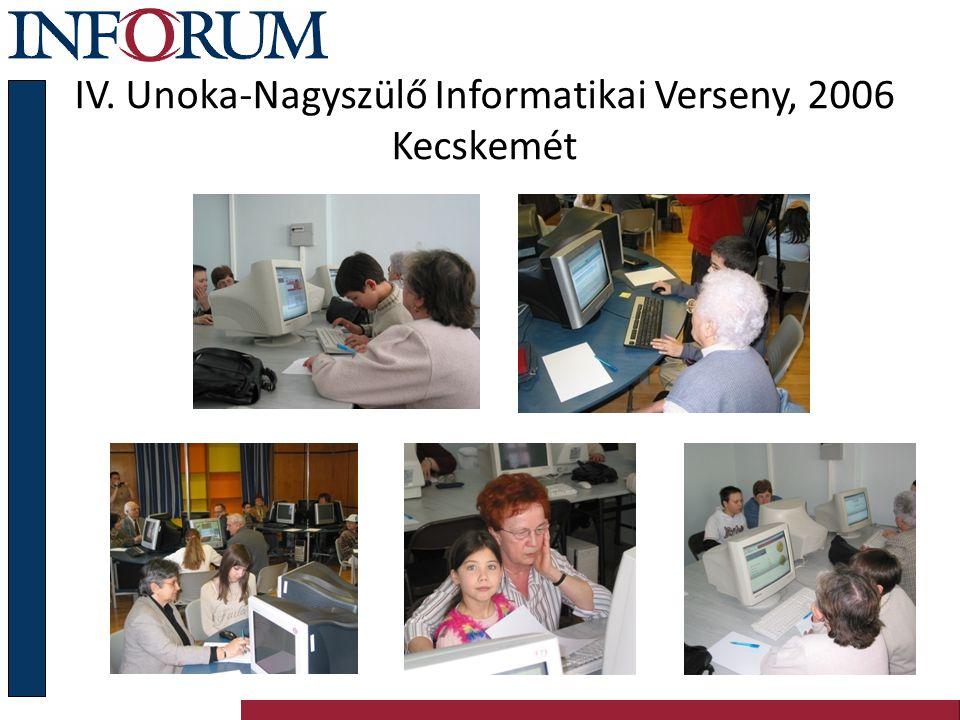IV. Unoka-Nagyszülő Informatikai Verseny, 2006 Kecskemét