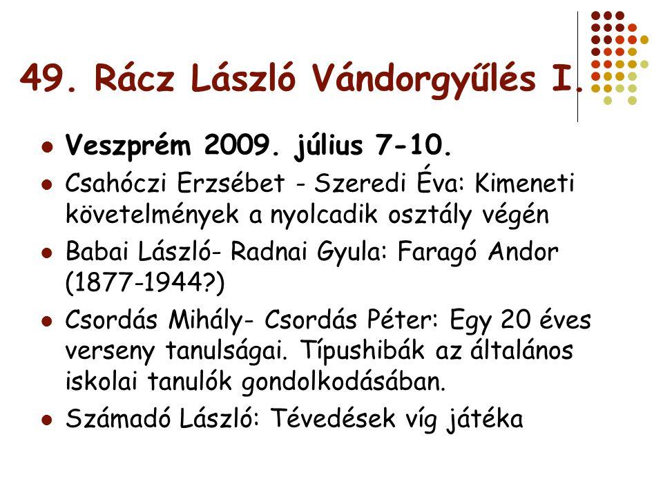 49.Rácz László Vándorgyűlés II.