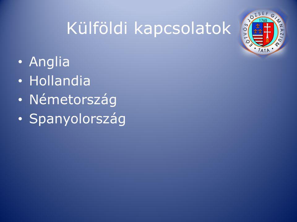 Külföldi kapcsolatok Anglia Hollandia Németország Spanyolország