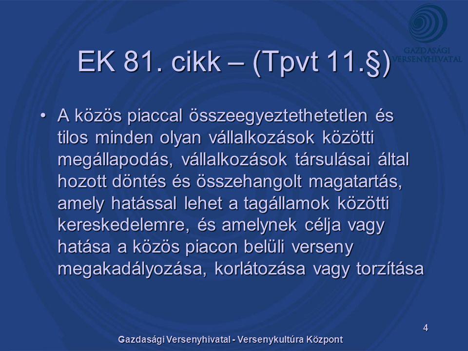 Gazdasági Versenyhivatal - Versenykultúra Központ 4 EK 81.