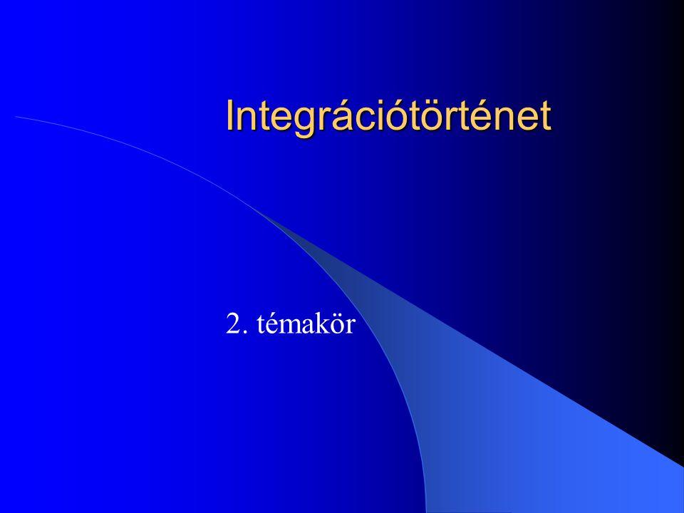 Integrációtörténet 2. témakör