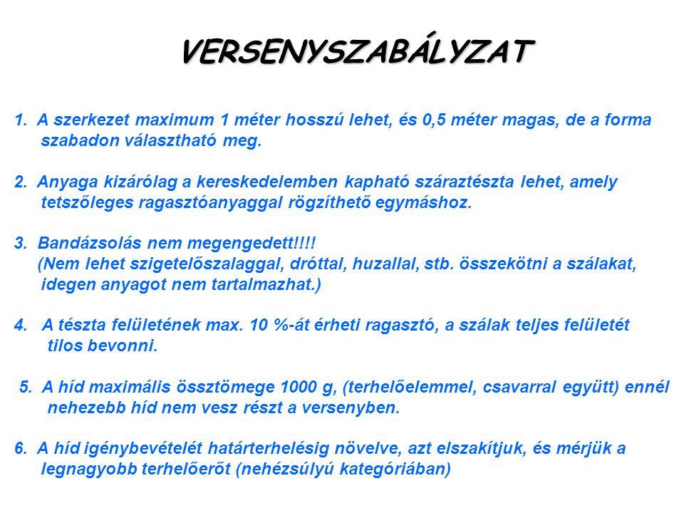VERSENYSZABÁLYZAT 1.