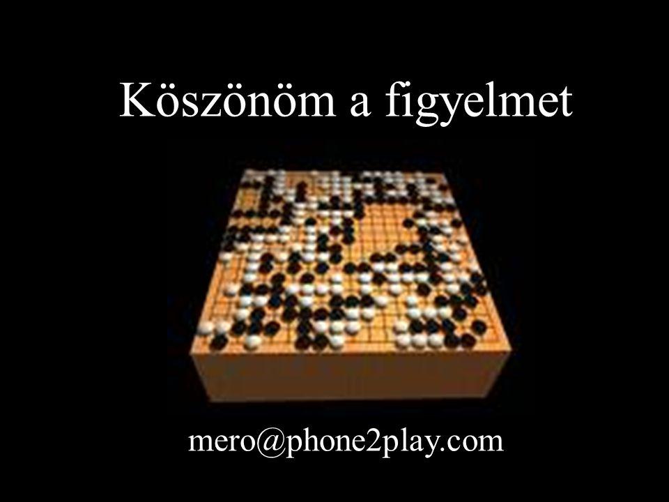 Köszönöm a figyelmet mero@phone2play.com
