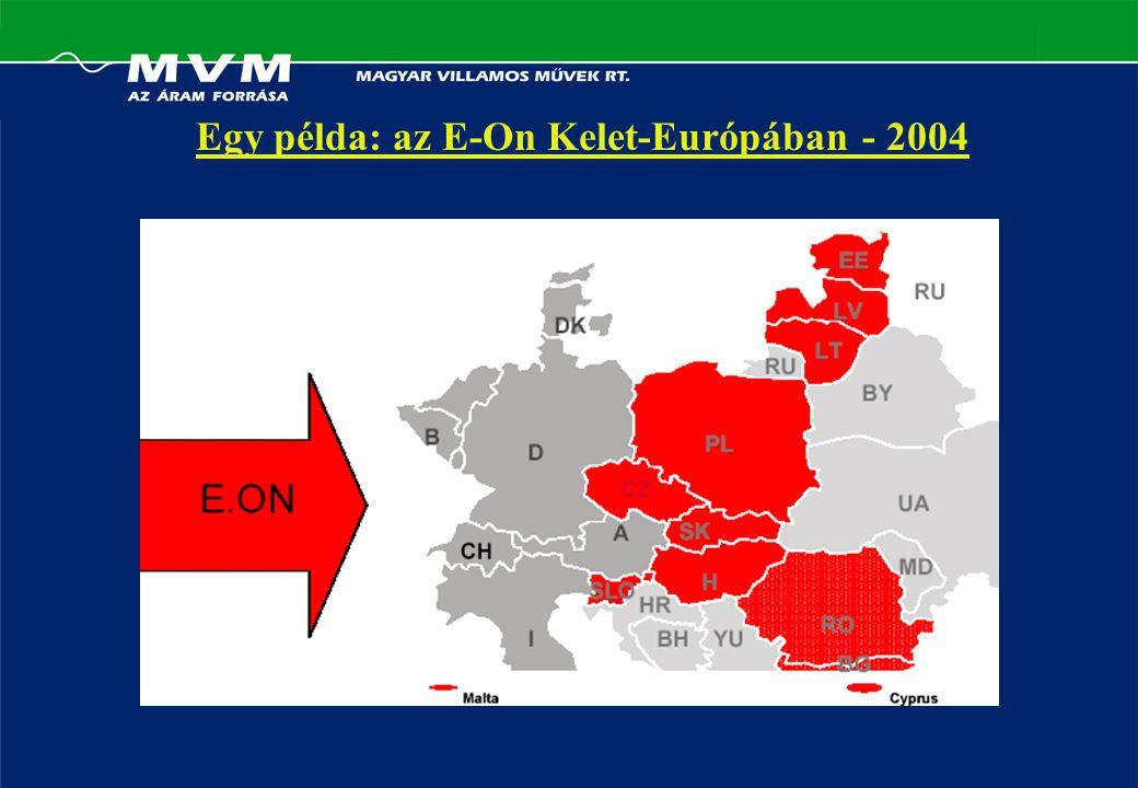 Egy példa: az E-On Kelet-Európában - 2004