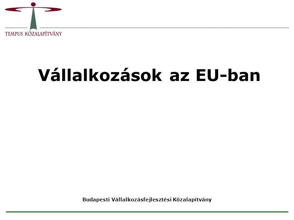 Vállalkozások az EU-ban Budapesti Vállalkozásfejlesztési Közalapítvány