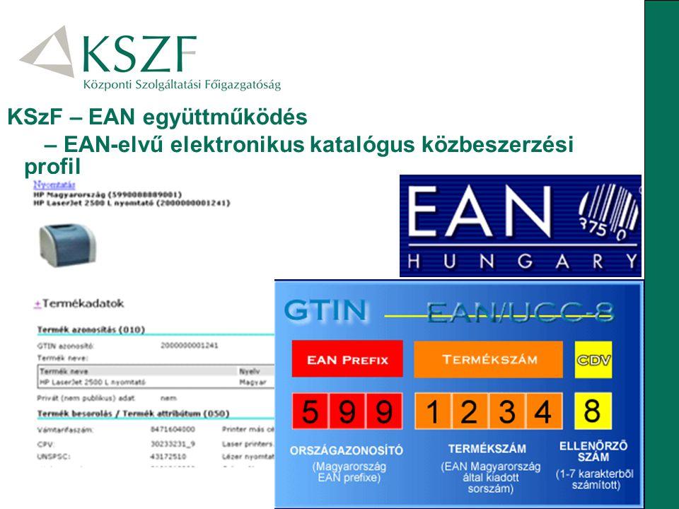 KSzF – EAN együttműködés – EAN-elvű elektronikus katalógus közbeszerzési profil