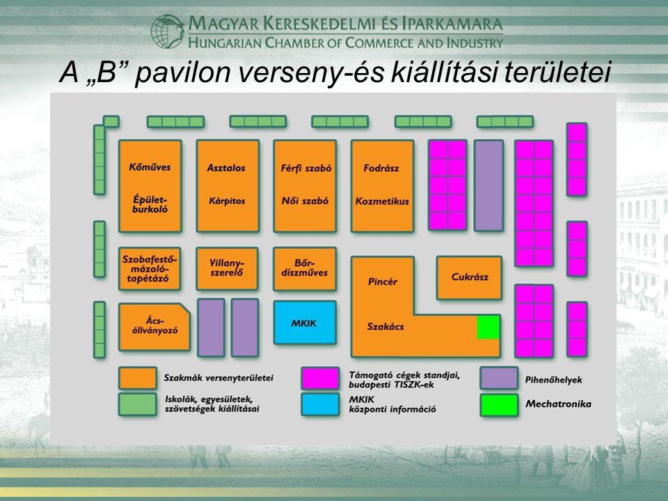 """A """"B"""" pavilon verseny-és kiállítási területei"""